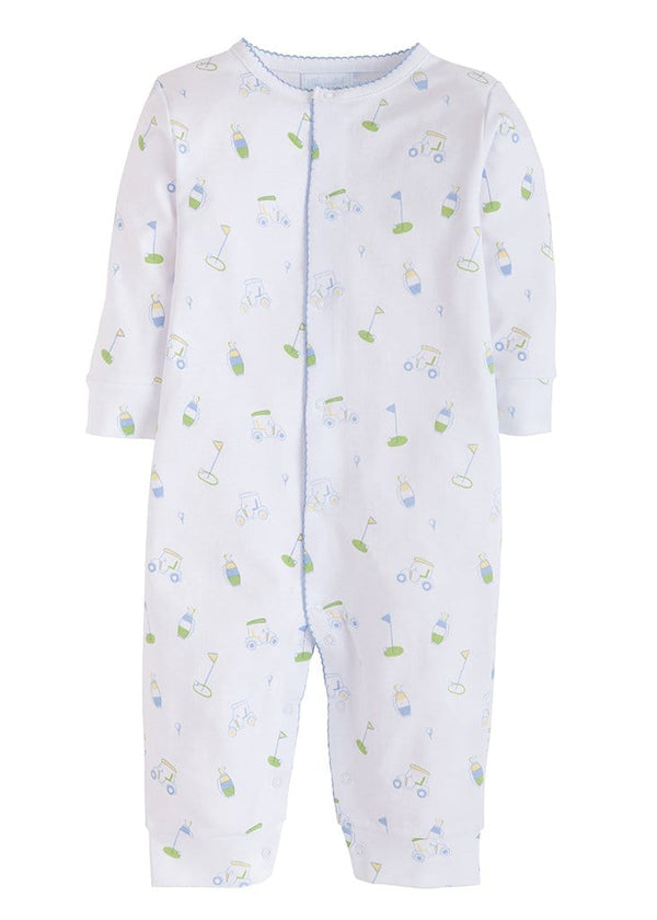 Little English classic baby boys golf printed romper sleeper
