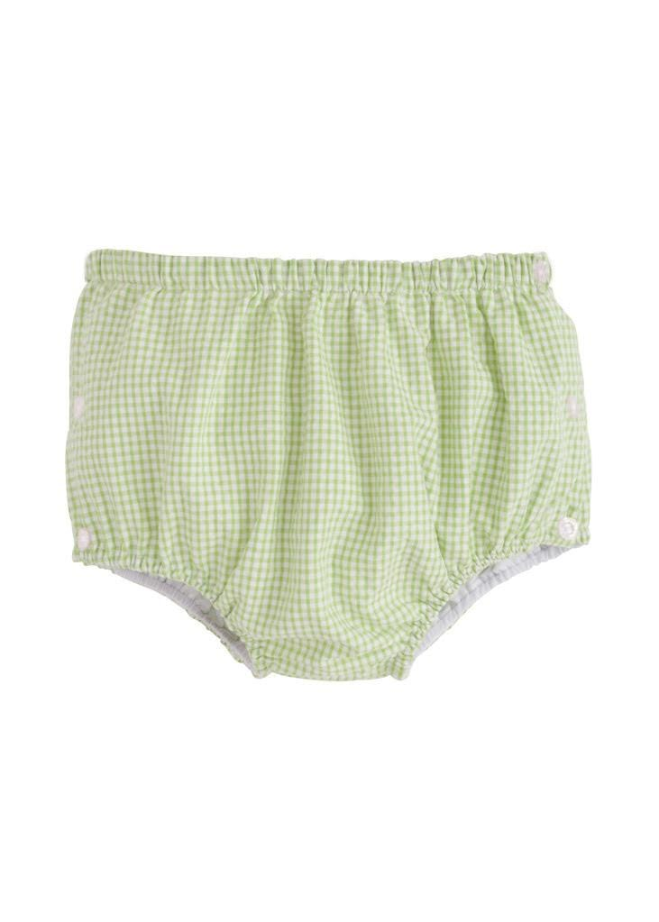 green gingham seersucker diaper cover, Little English traditional baby clothing