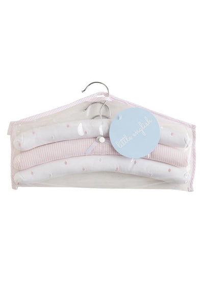 Hangers-Pink Polka Dots, Little English, classic children's clothing, preppy children's clothing, traditional children's clothing, classic baby clothing, traditional baby clothing
