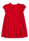 Little English classic girl's red corduroy, traditional children's clothing