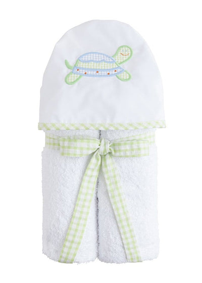 Hooded Towel - Blue Turtle, Little English, classic children's clothing, preppy children's clothing, traditional children's clothing, classic baby clothing, traditional baby clothing