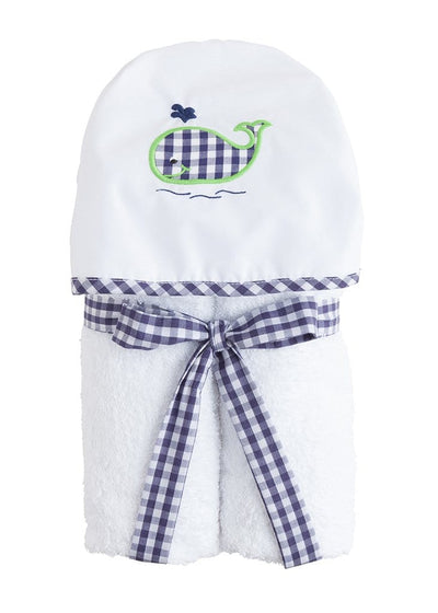 Hooded Towel - Blue Whale, Little English, classic children's clothing, preppy children's clothing, traditional children's clothing, classic baby clothing, traditional baby clothing