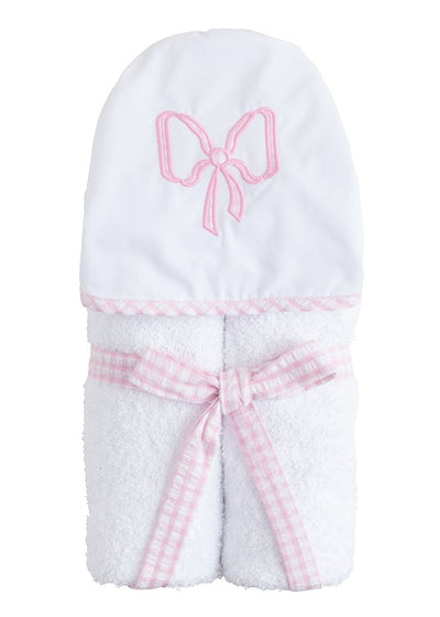 Hooded Towel - Bow, Little English, classic children's clothing, preppy children's clothing, traditional children's clothing, classic baby clothing, traditional baby clothing