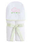 Hooded Towel - Pink Bunny, Little English, classic children's clothing, preppy children's clothing, traditional children's clothing, classic baby clothing, traditional baby clothing