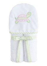 Hooded Towel - Pink Turtle, Little English, classic children's clothing, preppy children's clothing, traditional children's clothing, classic baby clothing, traditional baby clothing