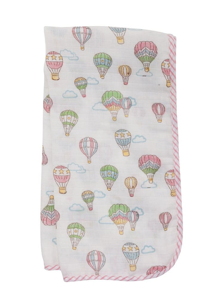 Muslin Swaddle - Hot Air Balloon, Little English, classic children's clothing, preppy children's clothing, traditional children's clothing, classic baby clothing, traditional baby clothing