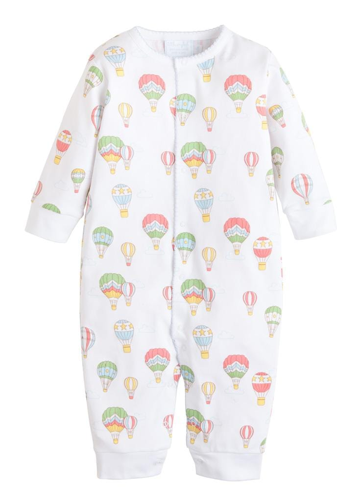 Printed Romper - Hot Air Balloon, Little English, classic children's clothing, preppy children's clothing, traditional children's clothing, classic baby clothing, traditional baby clothing