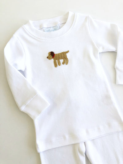 Lab Crochet Jammies, Little English, classic children's clothing, preppy children's clothing, traditional children's clothing, classic baby clothing, traditional baby clothing