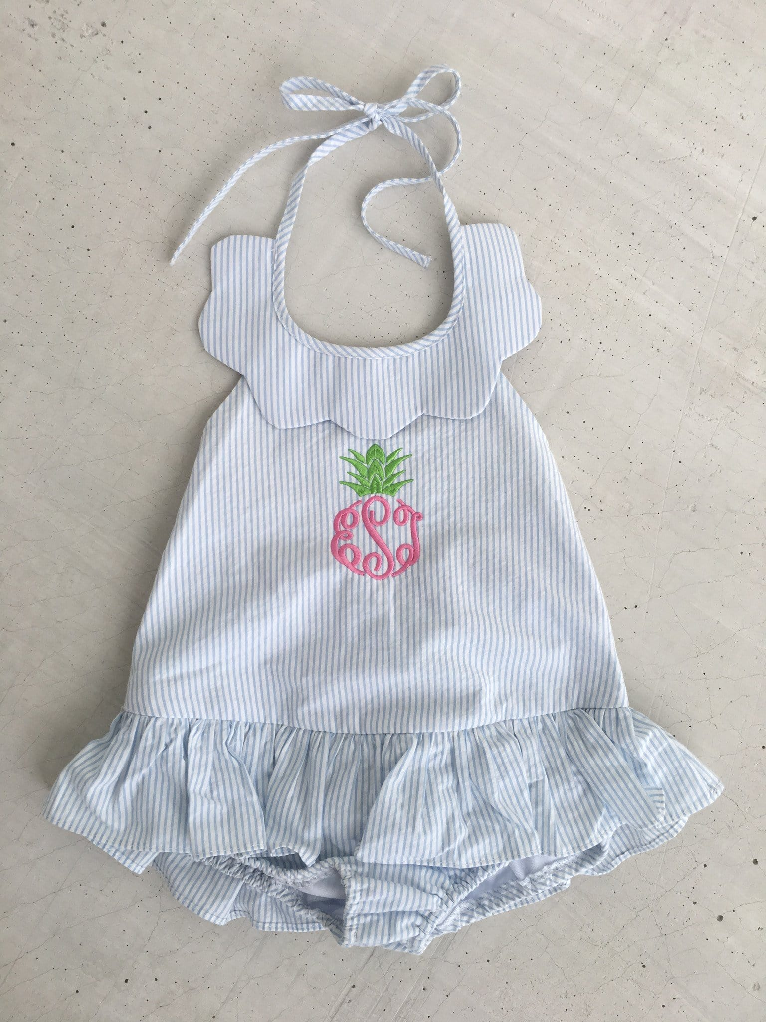 Scallop Swimsuit, Little English, Little English, classic children's clothing, preppy children's clothing, little english clothing
