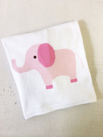 Elephant Intarsia Blanket, Little English, classic children's clothing, preppy children's clothing, traditional children's clothing, classic baby clothing, traditional baby clothing