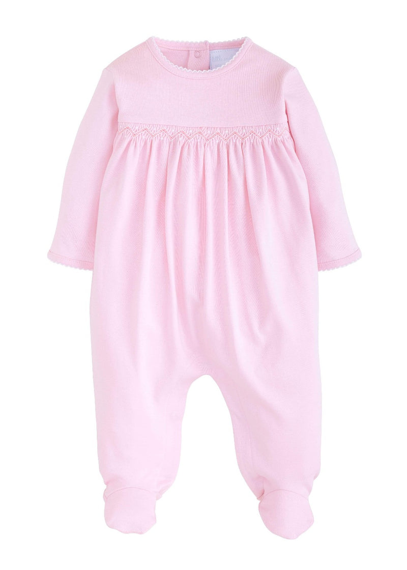 Little English Welcome Home Pink Layette Footie