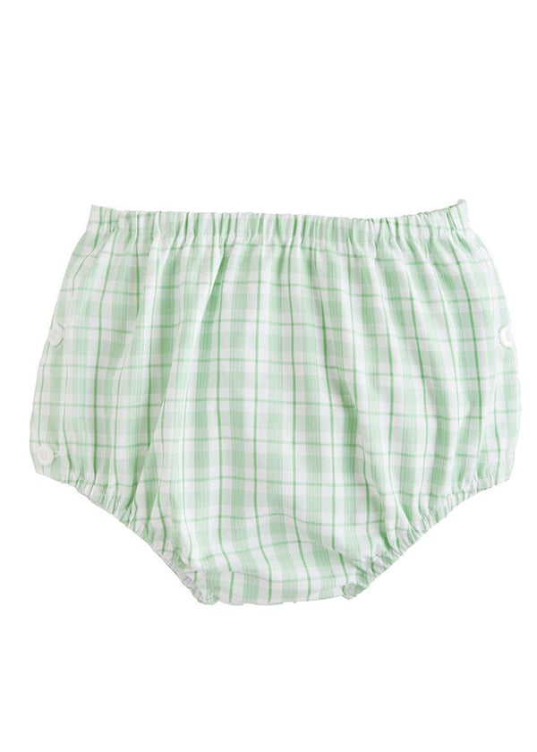 Little English baby boys green plaid diaper cover