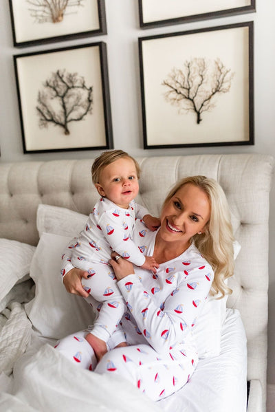 Mama'stay Jammies - Seas The Day, Little English, classic children's clothing, preppy children's clothing, traditional children's clothing, classic baby clothing, traditional baby clothing