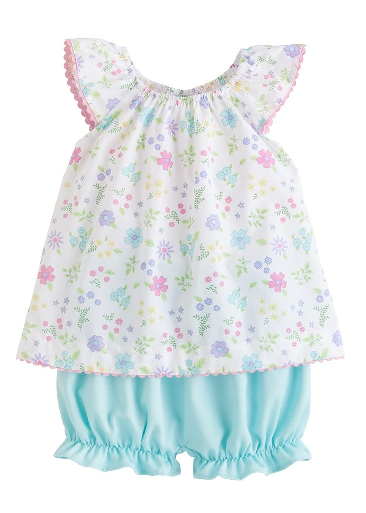 little english girls classic floral spring bloomer set
