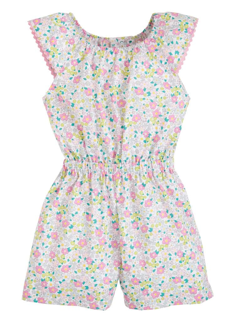 Kate Romper - Ditsy Floral, Little English, classic children's clothing, preppy children's clothing, traditional children's clothing, classic baby clothing, traditional baby clothing