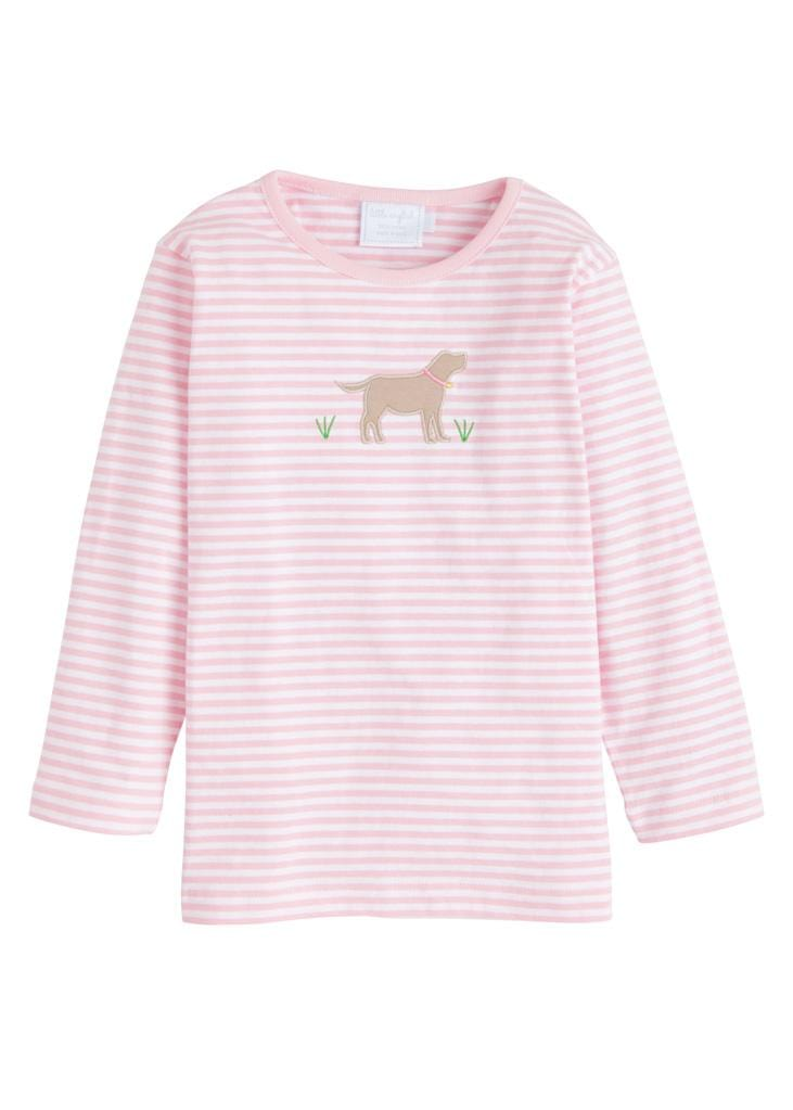 Little English classic girl's applique t-shirt, traditional childrens clothing