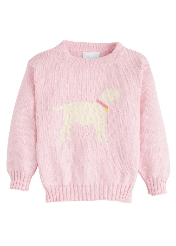 Little English classic girl's intarsia sweater