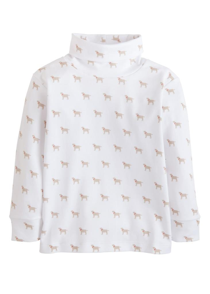 Little English classic boy's printed turtleneck