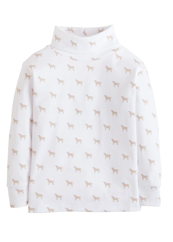 Little English classic girl's printed turtleneck