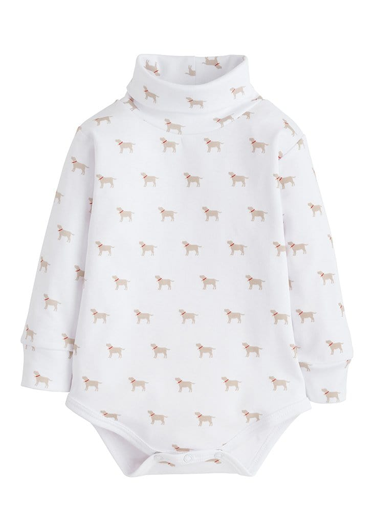 Lab Printed Turtleneck Onesie - Boy