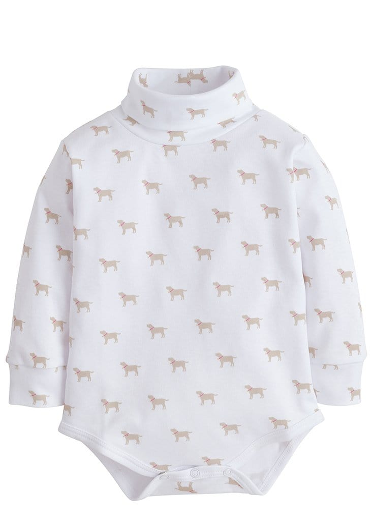 little English girls printed turtleneck with labs