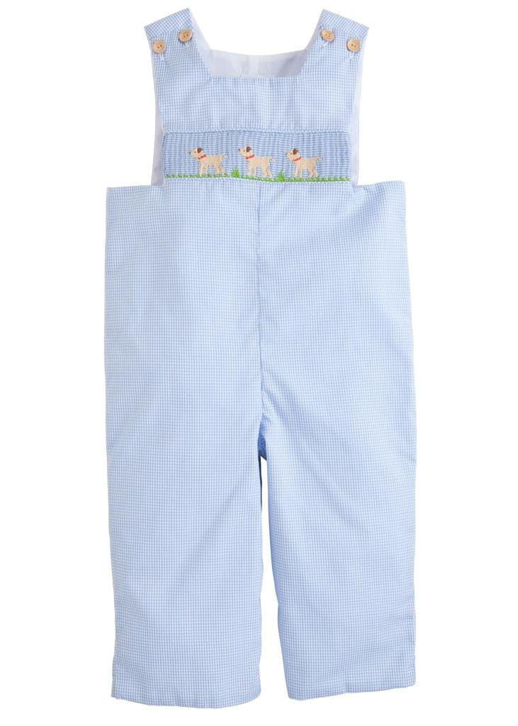 Lab Smocked Longall, Little English classic children's clothing, traditional light blue smocked longall