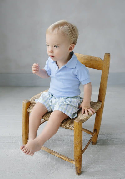 Solid Polo - Light Blue, Little English, classic children's clothing, preppy children's clothing, traditional children's clothing, classic baby clothing, traditional baby clothing
