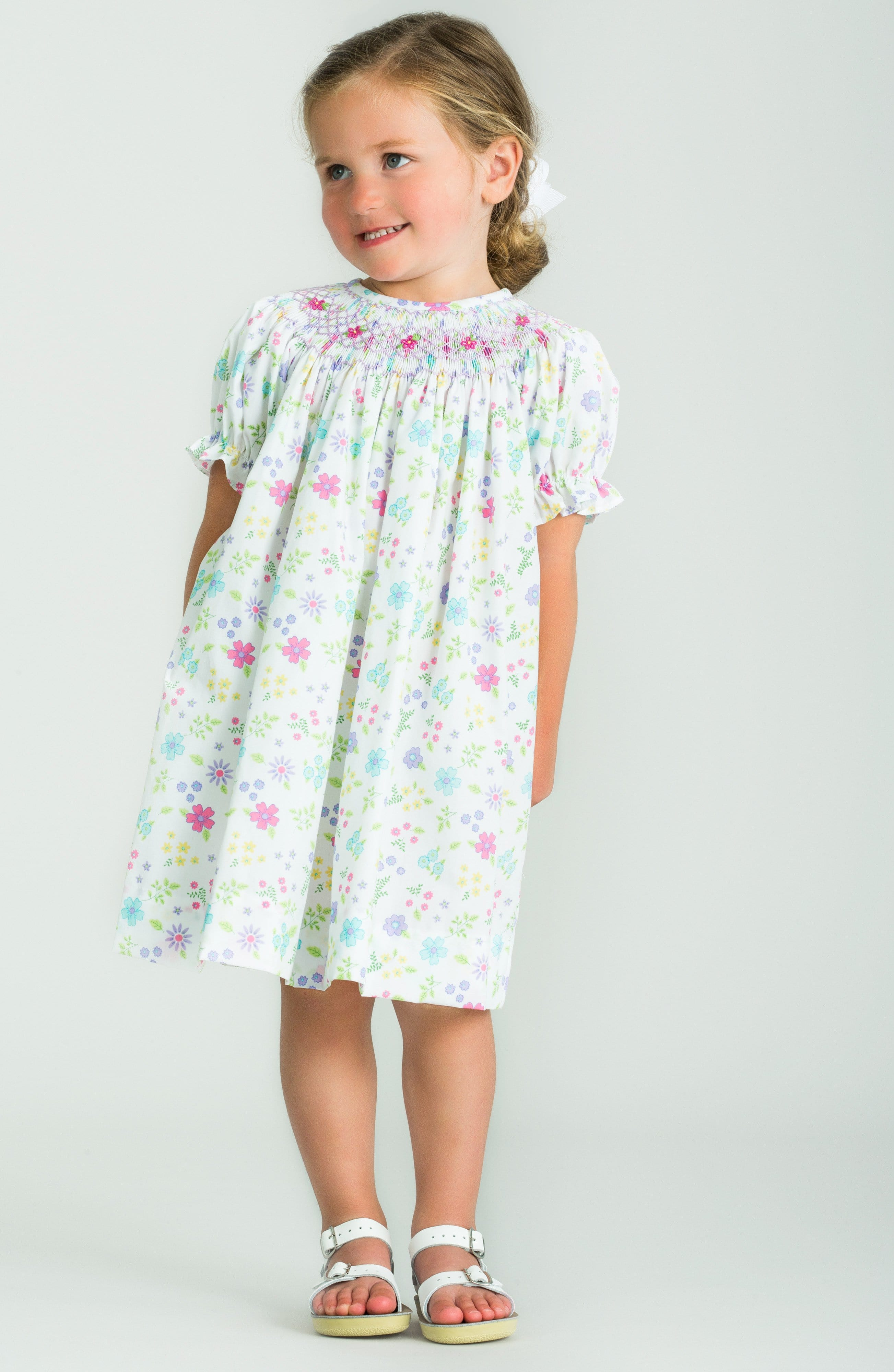 Classic floral Bishop Dress, traditional children's clothing