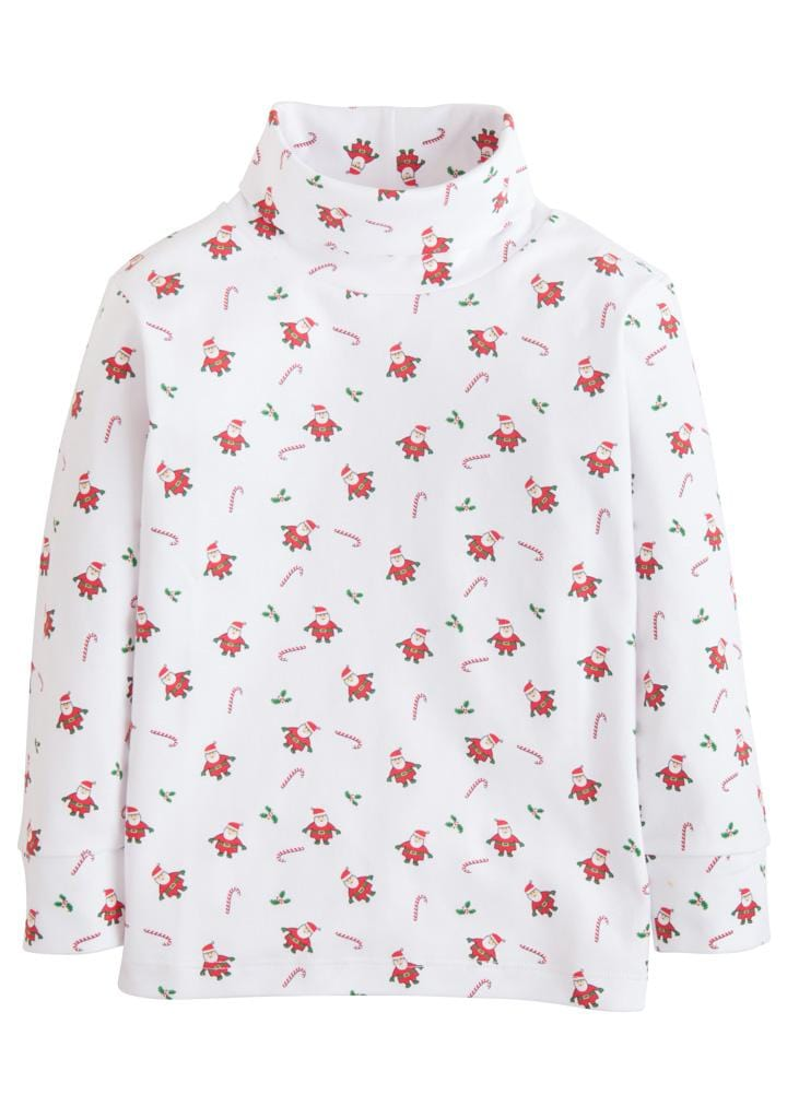 Little English classic printed turtleneck, traditional children's clothing