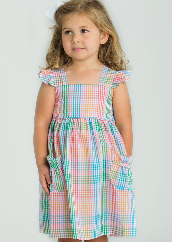 Little English Preppy Plaid Girls Sundress