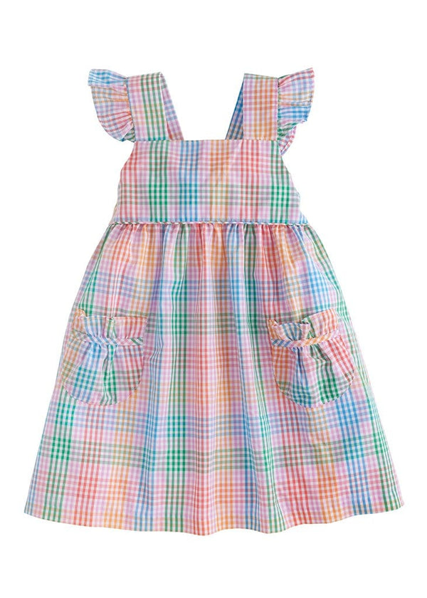 little english preppy pink girls sundress