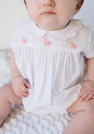 London Bubble - Pink Sheep, Little English, classic children's clothing, preppy children's clothing, traditional children's clothing, classic baby clothing, traditional baby clothing