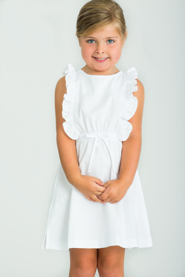 little english girls classic white seersucker dress classic white easter dress