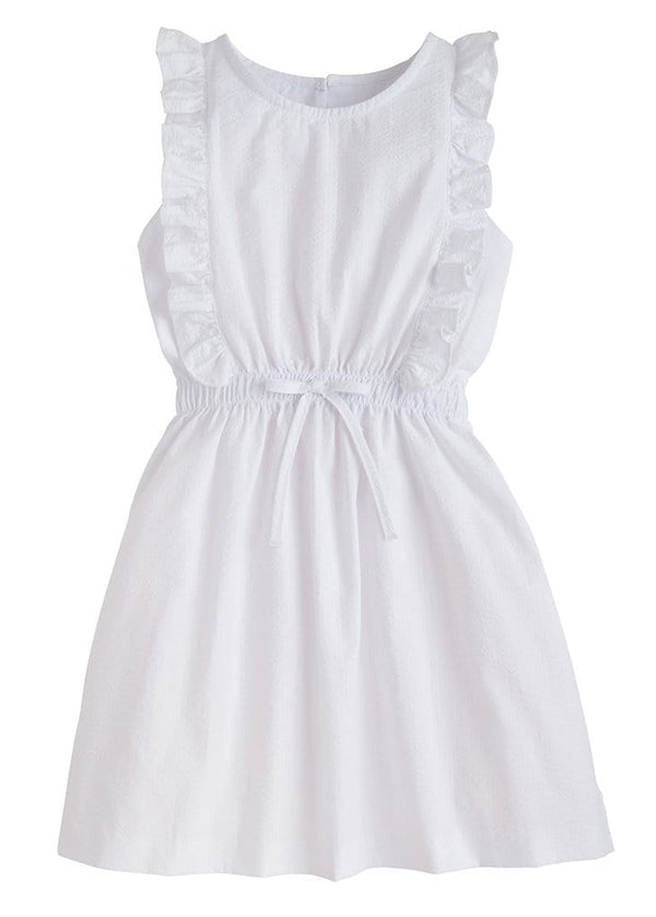 Little English classic girls white seersucker sundress