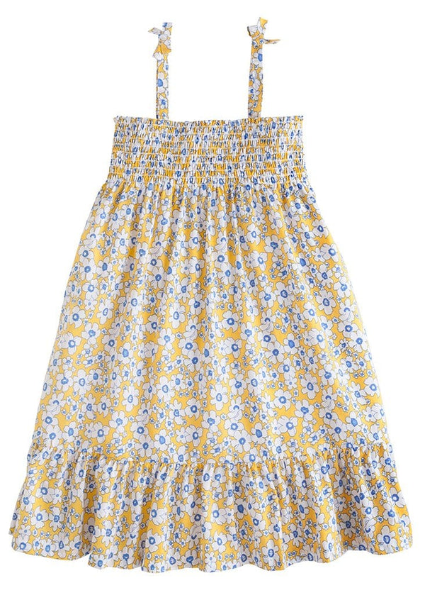 little english classic girls yellow floral dress