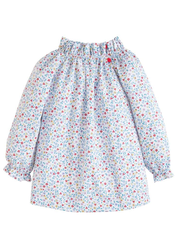 Little English classic girl's floral top, traditional children's clothing