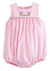 Little English classic girl's pink corduroy bubble, traditional children's clothing