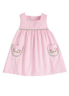 Little English classic girl's pink jumper, traditional children's clothing