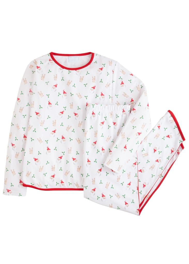 Little English classic matching printed pajamas for women, traditional children's clothing, matching set