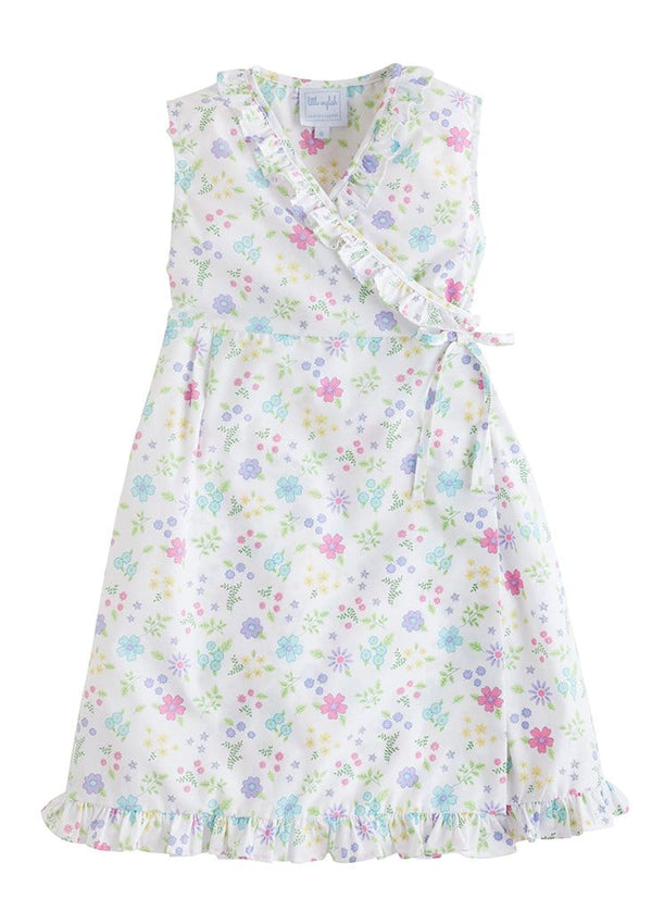 little english classic girls floral wrap dress easter dress