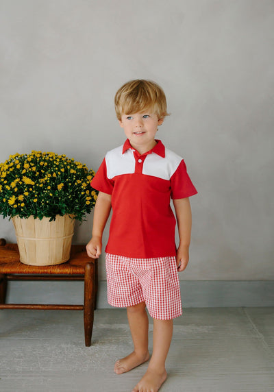 Papa Polo - Red, Little English, classic children's clothing, preppy children's clothing, traditional children's clothing, classic baby clothing, traditional baby clothing