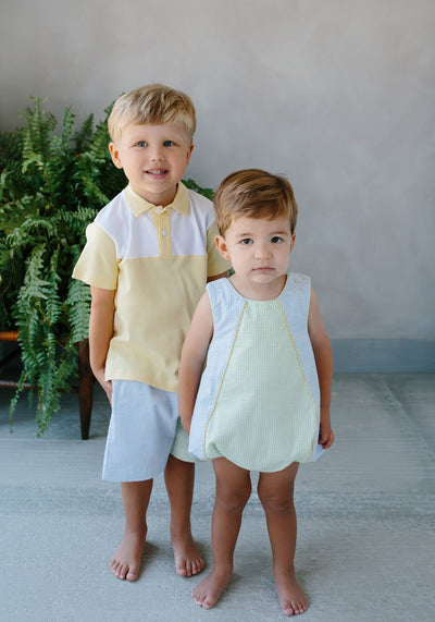 Papa Polo - Yellow, Little English, classic children's clothing, preppy children's clothing, traditional children's clothing, classic baby clothing, traditional baby clothing