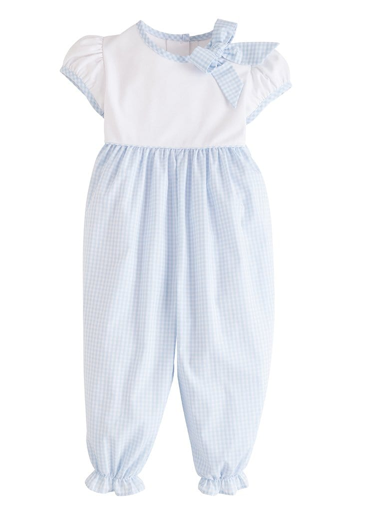 Little English classic girl's park avenue romper, traditional children's clothing