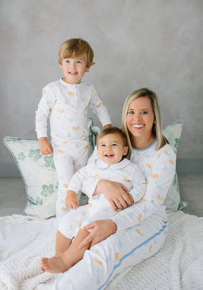 Mama'stay Jammies - Party Animals, Little English, classic children's clothing, preppy children's clothing, traditional children's clothing, classic baby clothing, traditional baby clothing