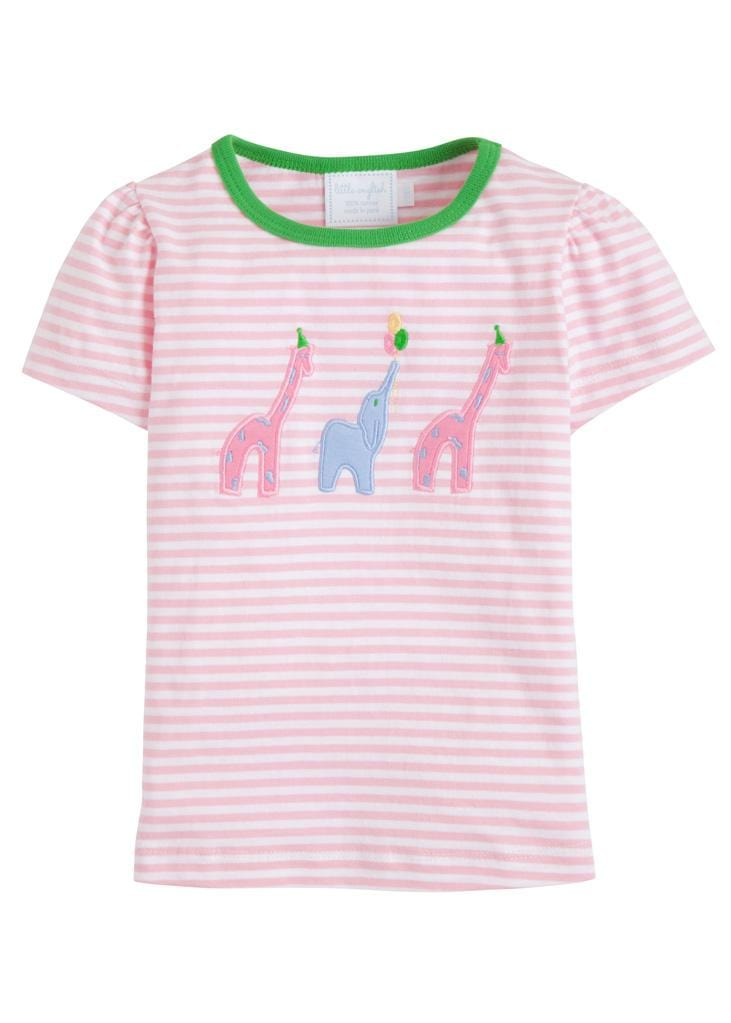 Pink Party Animal T-Shirt, Little English, classic children's clothing, preppy children's clothing, traditional children's clothing, classic baby clothing, traditional baby clothing