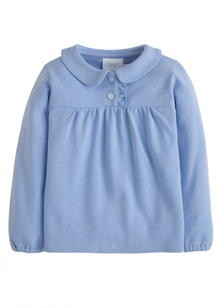 Patty Shirt - Blue, Little English, classic children's clothing, preppy children's clothing, traditional children's clothing, classic baby clothing, traditional baby clothing