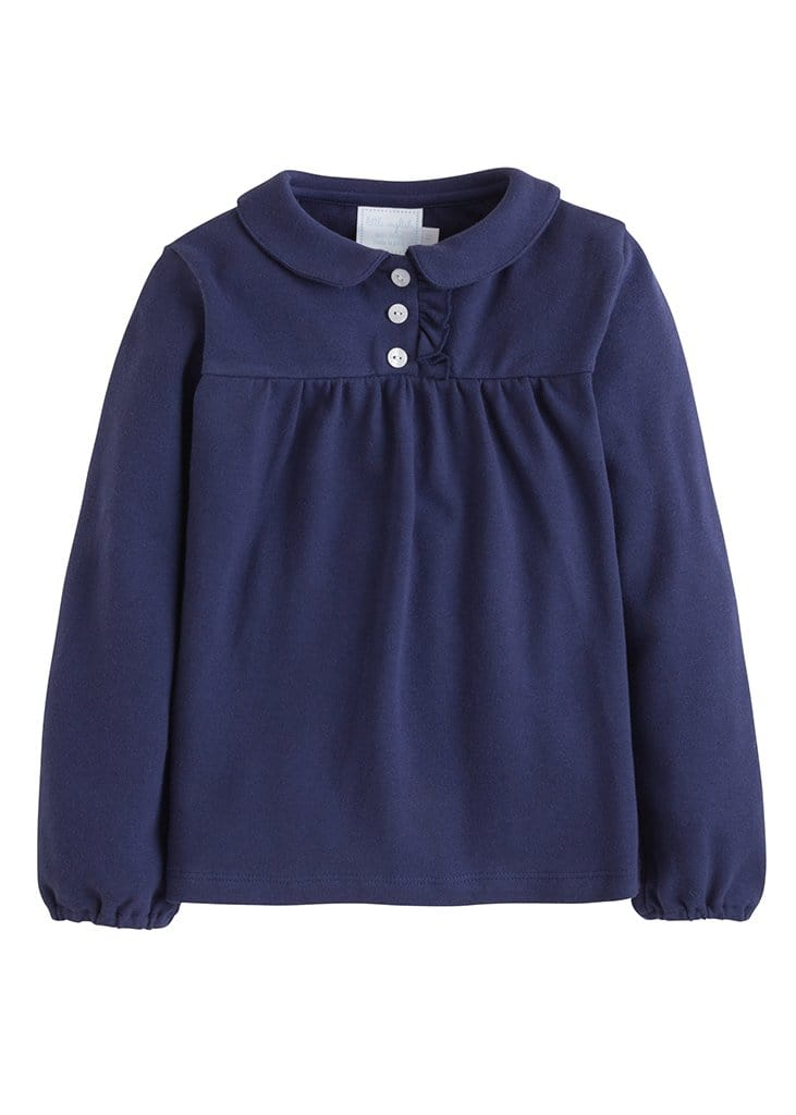 Patty Shirt - Navy, Little English, classic children's clothing, preppy children's clothing, traditional children's clothing, classic baby clothing, traditional baby clothing