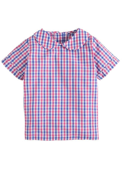 Peter Pan Shirt - Bar Harbor Gingham, Little English, classic children's clothing, preppy children's clothing, traditional children's clothing, classic baby clothing, traditional baby clothing