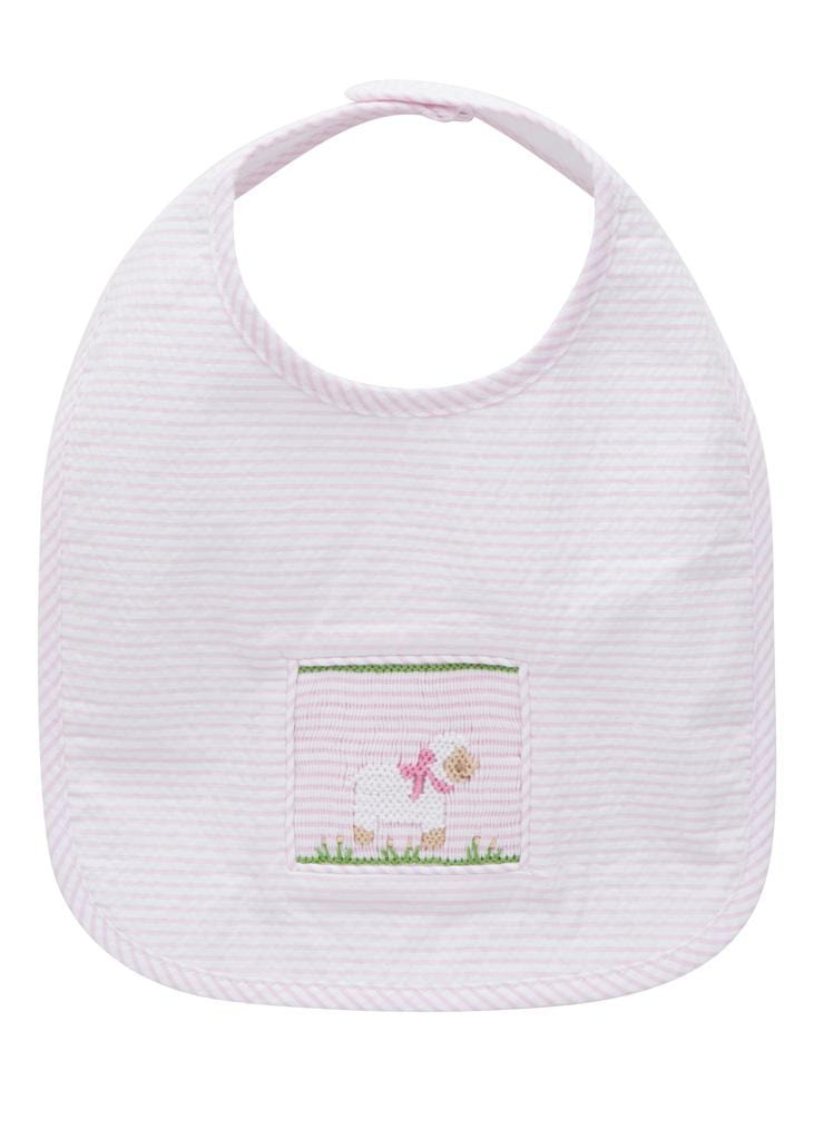Little English Classic baby sheep smocked bib