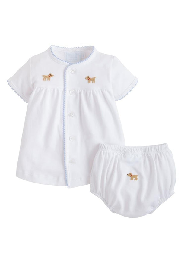Pinpoint Layette Knit Set-Lab, Little English, classic children's clothing, preppy children's clothing, traditional children's clothing, classic baby clothing, traditional baby clothing